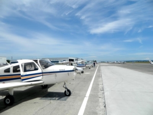 Boundary Bay airport flight line