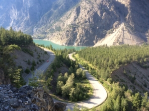 The bend near the end of Duffy Lake road. Seton lake in the background.