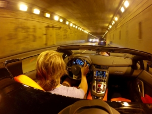 Top down in a tunnel