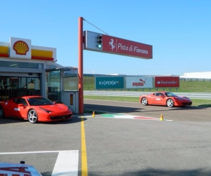 Famous Fiorano pit garage.