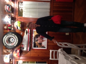 Inside the Montana Ristorante. F1 memorabilia on the walls.
