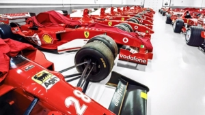Ferrari F1 cars at The factory. ( picture not tsken by me).