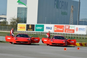 Ferrari 458ms on the skidpad