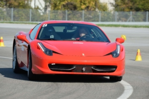 In a Ferrari 458 at Fiorano.